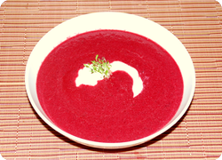 Randen-Kokosnuss-Suppe
