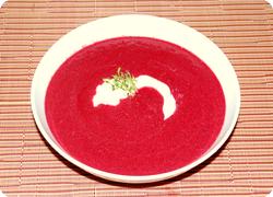 Randen-Kokosnuss-Suppe