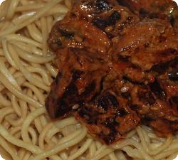 Randen-Curry auf Mie-Nudeln