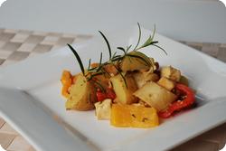 Kartoffelpfanne mit Räuchertofu