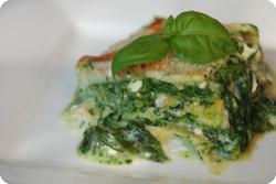 Lasagne mit Schafkäse und Spinat