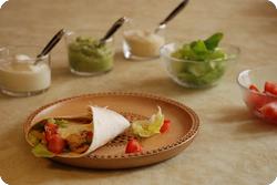 Tortillas mit Peperoni