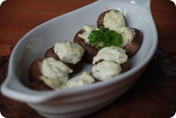 Frischkäse-Champignons