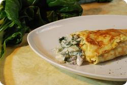 Krautstiel-Omelette