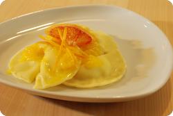 Orangen-Ravioli