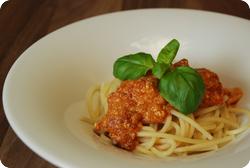 Spaghetti mit Ricotta-Tomatensauce