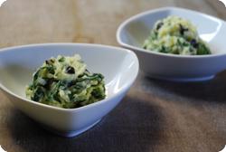 Krautstiel-Oliven-Kartoffelstock