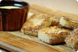 Tofu im knusprigen Kokosmantel