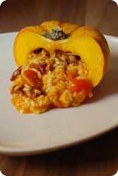 Herbst-Risotto-Teller