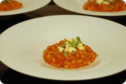 Tomatengersotto mit Feta