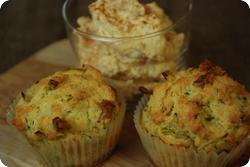 Käse-Lauch-Muffins mit Frischkäsecrème