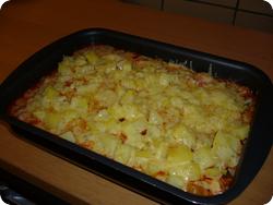 Ratatouille mit Kartoffeln und Käse
