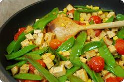 Gebratener Tofu mit Kefen