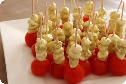 Tomaten-Mozzarella-Snack