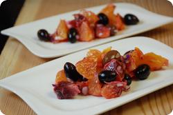 Pikanter Orangensalat mit Oliven