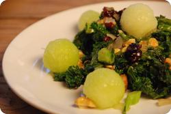 Federkohl-Melonensalat