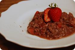 Erdbeer-Rotwein-Risotto