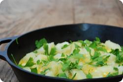 Omelette mit Kartoffeln