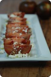 Braune Tomaten mit Feta