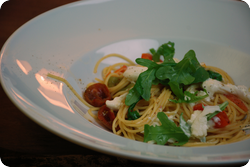 Spaghetti mit Burrata
