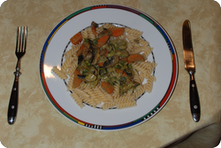 Champignon-Zwiebel-Karotten-Curry